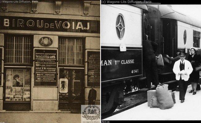 Birou de voiaj din România, unde se vindeau bilete la Orient Express; La peronul unei gări | Sursa: Arhive foto CIWL