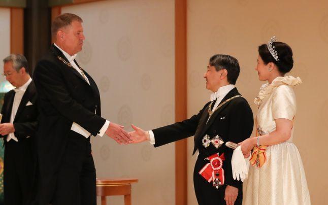 Președintele Klaus Iohannis, alături de împăratul Japoniei Naruhito. Administrația Prezidențială