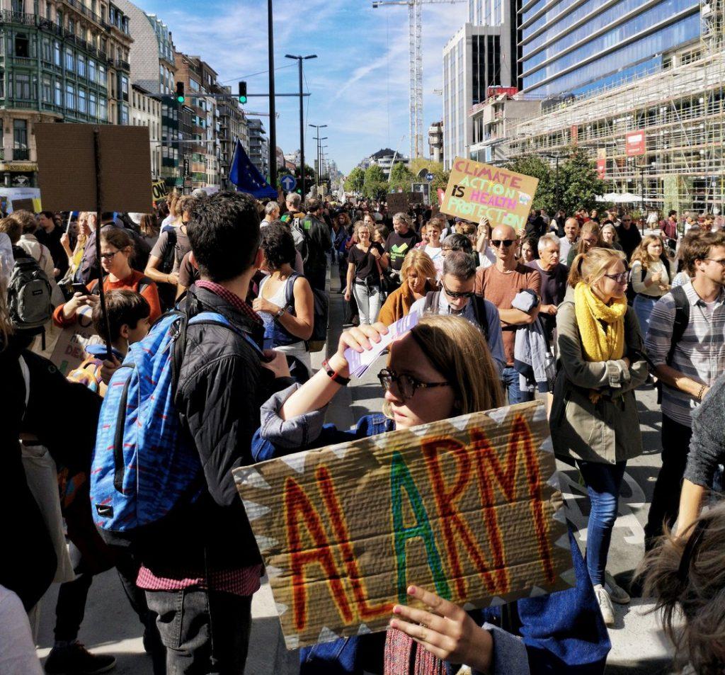 Protest în Bruxelles