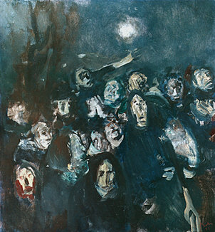 Spaima – Cutremur, 1977; Artist: Corneliu Baba   Sursa foto: corneliu-baba.org