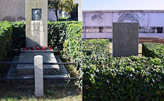 Mormântul filozofului Lucian Blaga; în poza din dreapta, clădirea din fața mormântului | Credit foto: Mira Kaliani