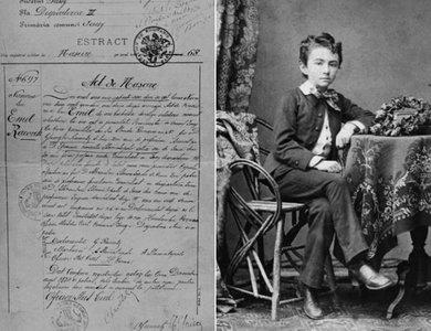 """Actul de naștere și Emil Racoviță la vârsta de 13 ani   Imagini de la expoziția """"Expediție în trecut"""" și din arhiva Emil Racoviță, emil-racovita.speosub"""