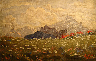 Peisaj, 1924; Artist: Corneliu Baba | Sursa foto: corneliu-baba.org