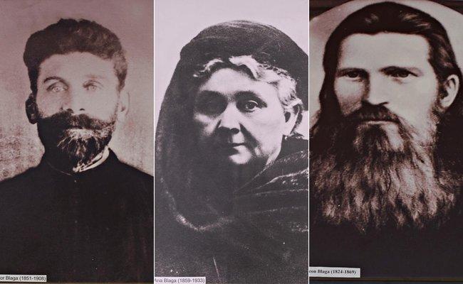 De la stânga: Tatăl, Isidor Blaga, mama, Ana Blaga (născută Moga), bunicul din partea tatălui, Simion Blaga | Credit foto: Mira Kaliani