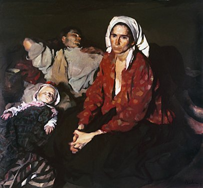 Odihnă la câmp, 1932; Artist: Corneliu Baba | Sursa foto: corneliu-baba.org