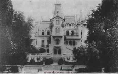 Casa Cretzulescu văzută din Cișmigiu – Din Bucureștiul de altădată