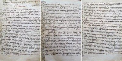 Trei file din ultimul testament al lui Alfred Nobel   Sursa: NobelPrize.org