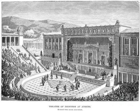 Teatru în Grecia antică | Sursa: Vitrivius