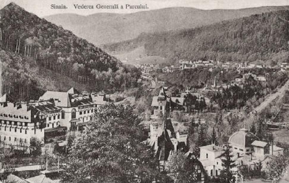 Vedere din Sinaia   Sursa imagine: Cartea munților