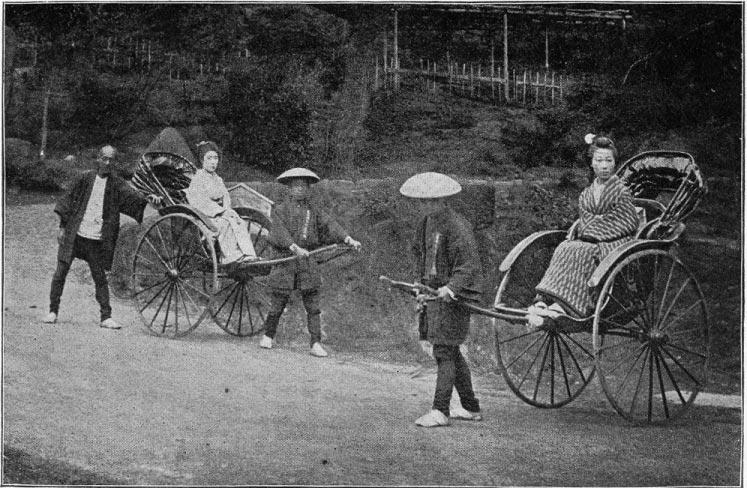 Ricșe, Japonia, circa 1897 | Sursa: Wikipedia, domeniu public