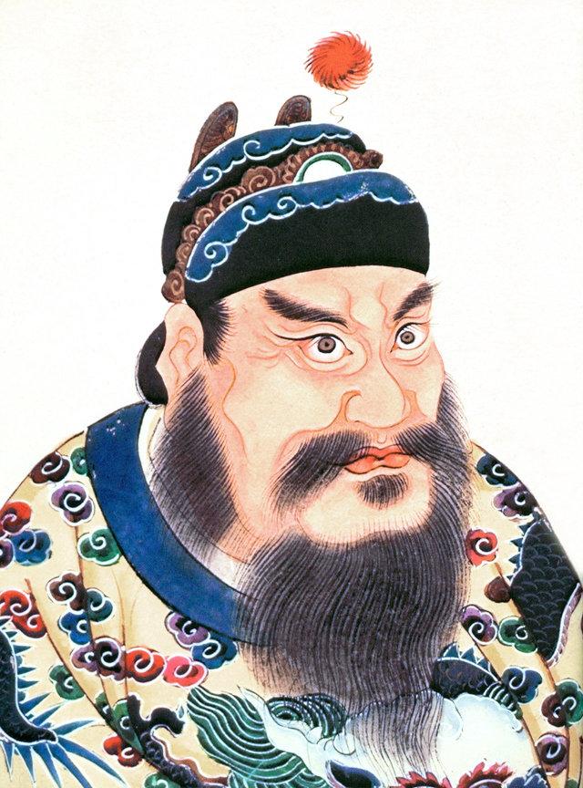 Qin Shi Huang, portret din secolul al XVIII-lea din albumul Lidai diwang xiang. | Sursa: The first emperor: China's Terracotta Army, Jane Portal, via: Wikipedia, domeniu public