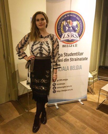 Daiana, coordonatorea studenților români din Belgia