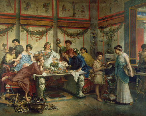 Un festin roman, Roberto Bompiani | Art in Empire