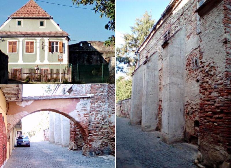 Porțiuni din fortificația orașului; Sus: Un fost turn tranformat în locuință | Foto: Mira Kaliani