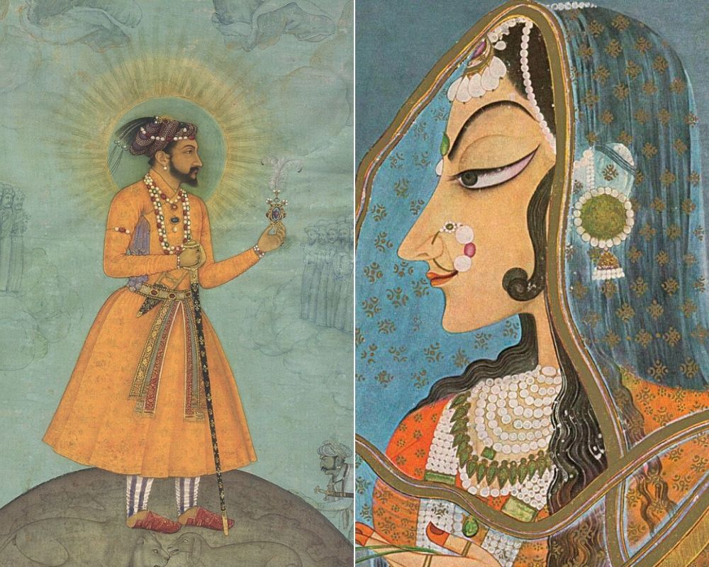 Shah Jahan, c. 1630 / Sursa: Wikipedia, domeniu public | Mumtaz Mahal / Sursa: Wikipedia, domeniu public