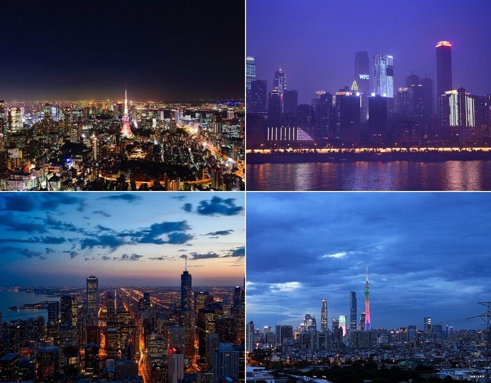 Tokyo, Chongqing, Chicago, Guangzhou | Surse foto: Pixabay