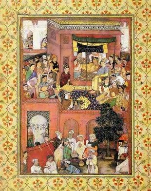 Nașterea prințului, lucrare atribuită lui Bishan Das, India, perioada mogulă, circa 1620 | Sursa: Memoriile lui Jahangir