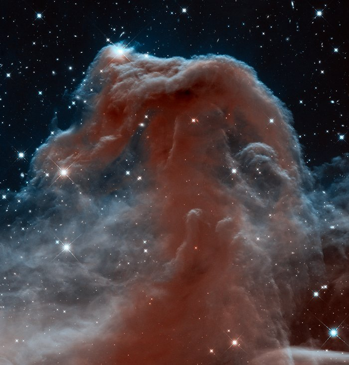 Imaginea Nebuloasei Cap-de-cal, situată în constelația Orion, a fost lansată cu ocazia a 23 de ani petrecuți de Hubble în spațiu. Foto: NASA, ESA și echipa Hubble Heritage (AURA / STScI)