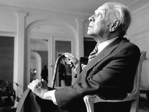 Borges în Paris, 1979   Fotografie de Ulf Andersen/Getty   Sursa: The New Yorker
