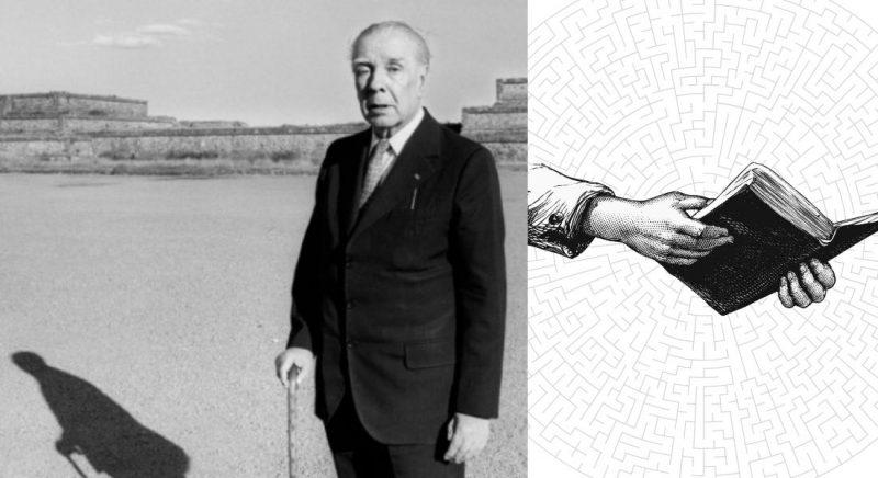 JorgeLuisBorges stânga: Fotografie din volumul Jorge Luis Borges de José Emilio Pacheco, 1999