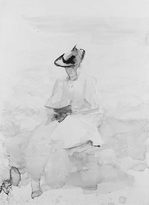 JorgeLuisBorges Citind o carte pe plajă, James Jebusa Shannon, c. 1896